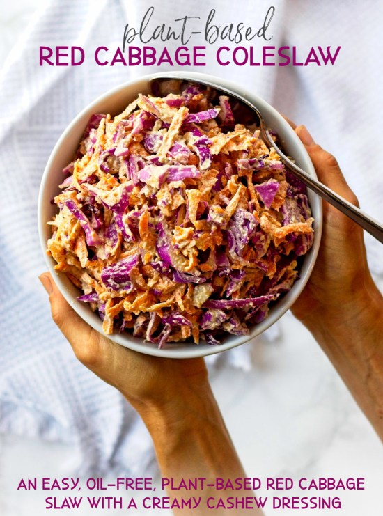 Plant-Based Simple Red Cabbage Slaw