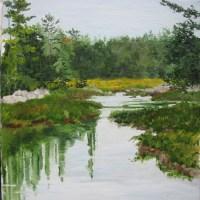 Maine Heath Painting