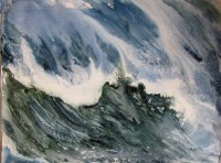 Watercolor Wave Painting