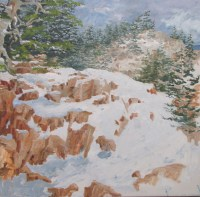 Maine Hiking Oil Painting