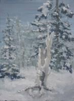Snow Tree Oil Painting
