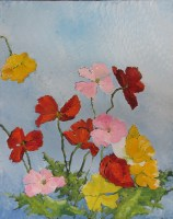 Poppy Oil Painting