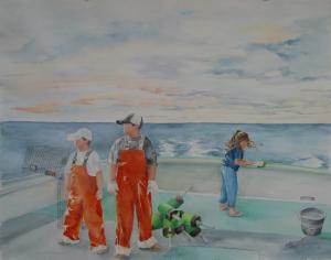 Maine Fisherman Family