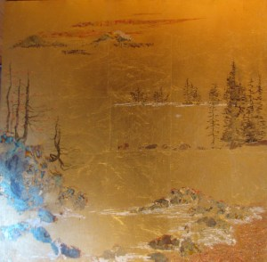 Gold Leaf Maine Panel