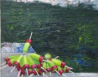 Maine Lobster Buoy painting