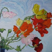 Maine flower Oil Painting