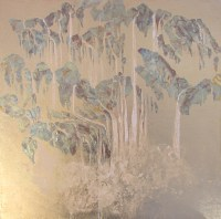 Abstract Waterfall Painting