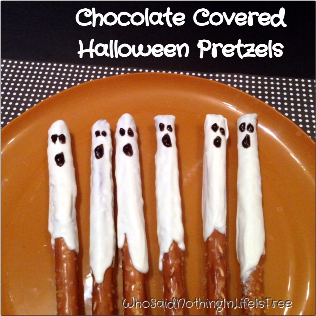 Chocolate Covered Halloween Ghost Pretzels Who Said