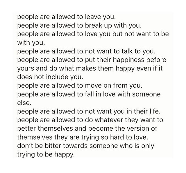 People are Allowed to Leave You