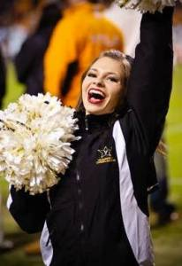 Vanderbilt Cheerleader Smile Tennessee Football
