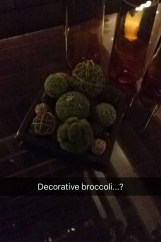 Creative Decoration Broccoli Westin Hotel Houston