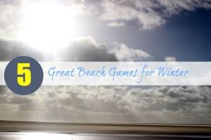 winter beach games