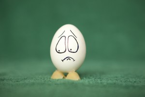 embarrassed egg