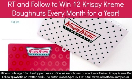Win a Dozen Krispy Kreme Doughnuts Every Month for a Year