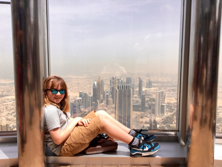 burj khalifa at the top