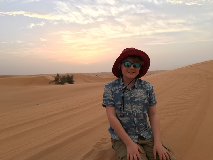 desert sunset dubai