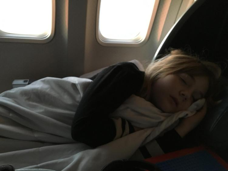 long haul flights with kids