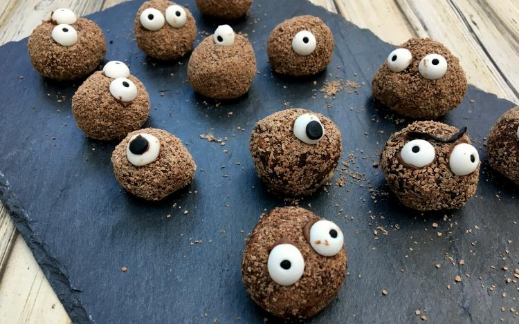 Halloween Treats: Popping Chocolate Truffle Monsters