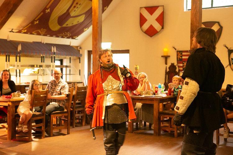 Warwick Castle Knights Village restaurant
