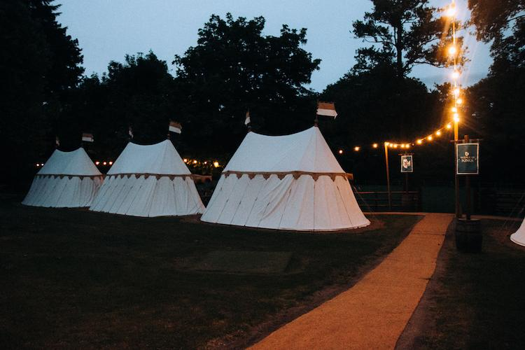warwick castle glamping tents