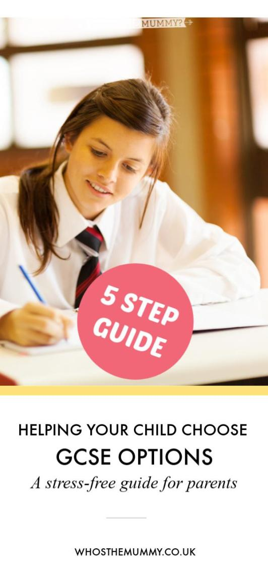 A 5-STEP STRESS FREE GUIDE TO PARENTS WANTING TO HELP THEIR CHILDREN CHOOSE GSCE OPTIONS IN YEAR 9