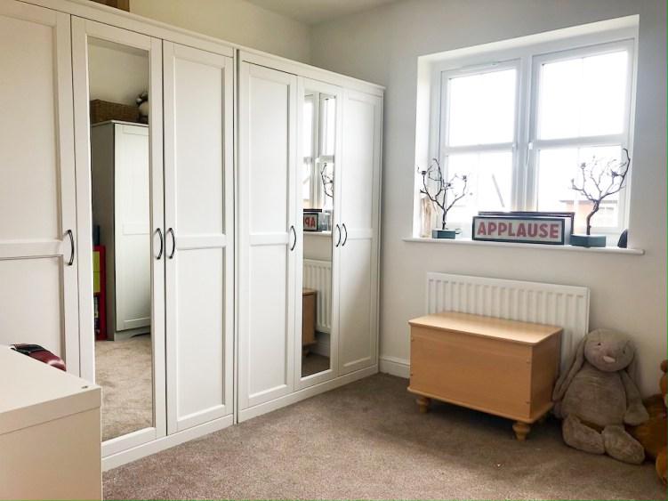 spare bedroom storage