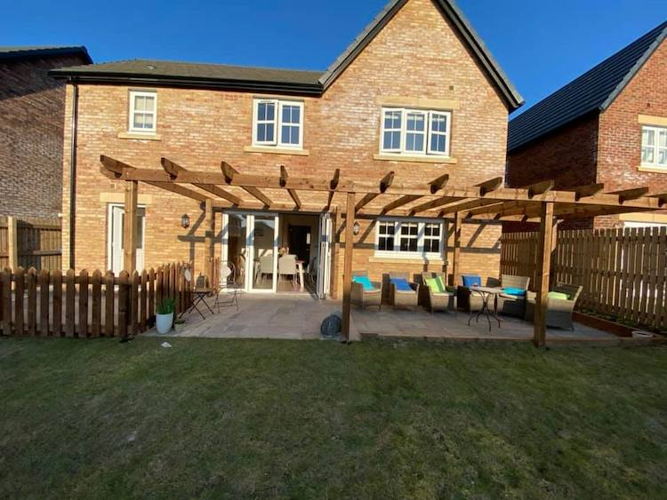 new build garden ideas pergola