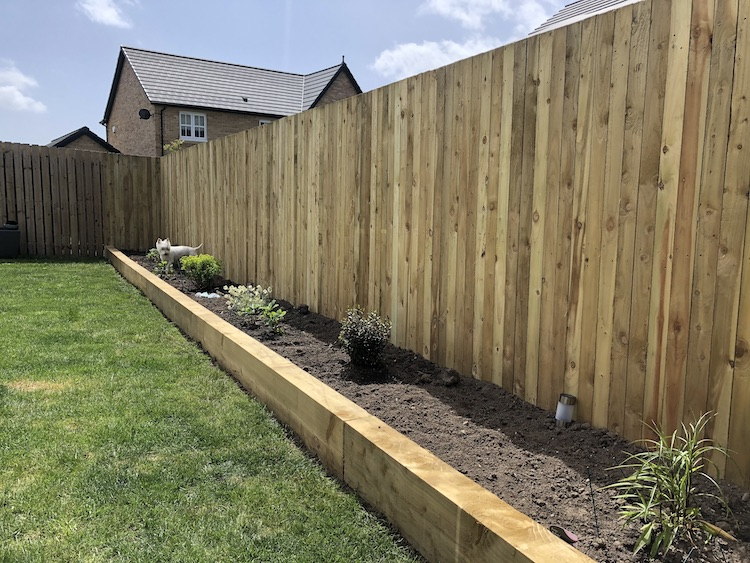 new build double fencing