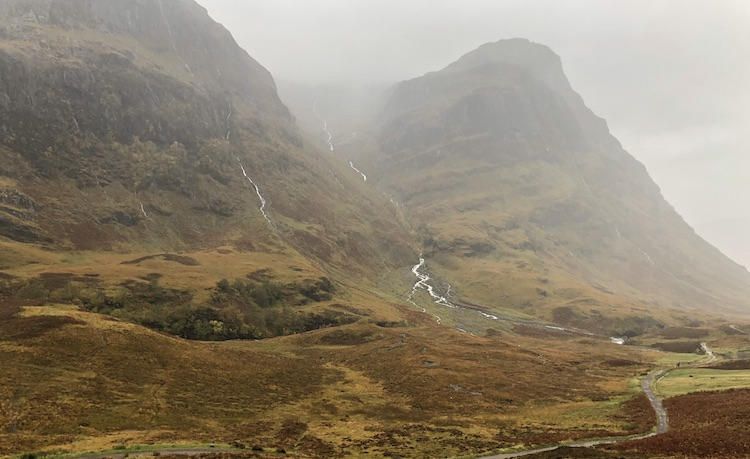 glencoe in the rain