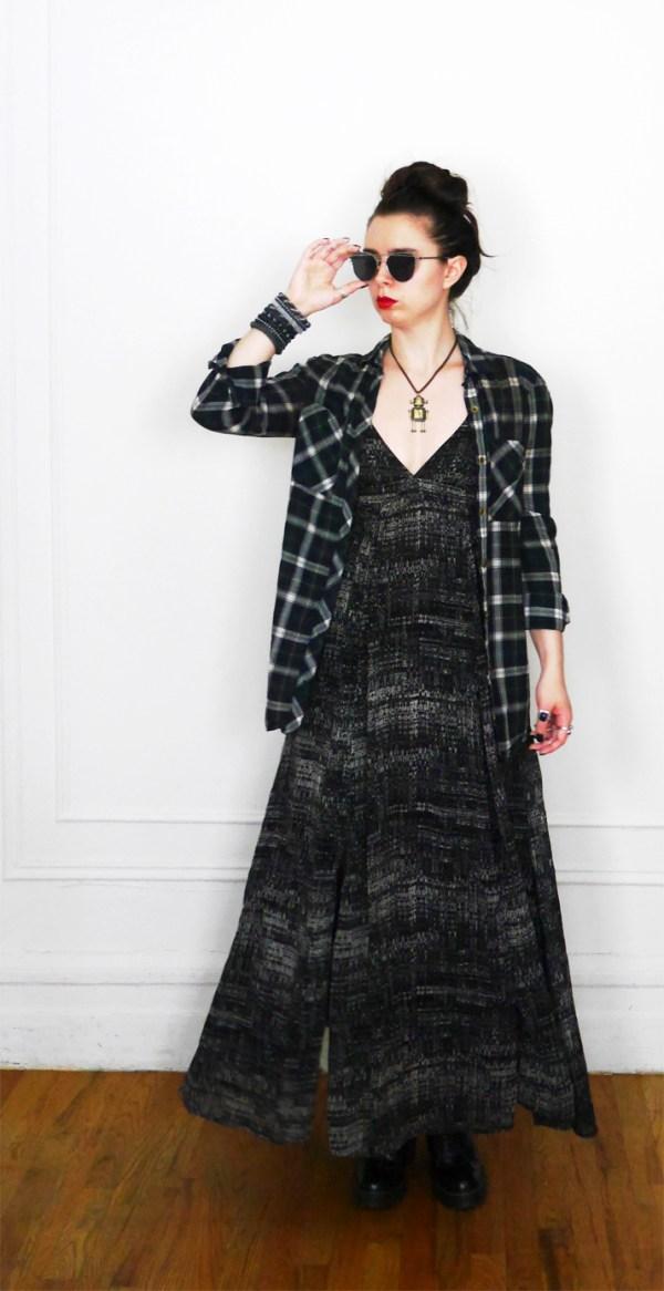 10x10 Wardrobe Challenge Dress + PlaidButtonUp 5