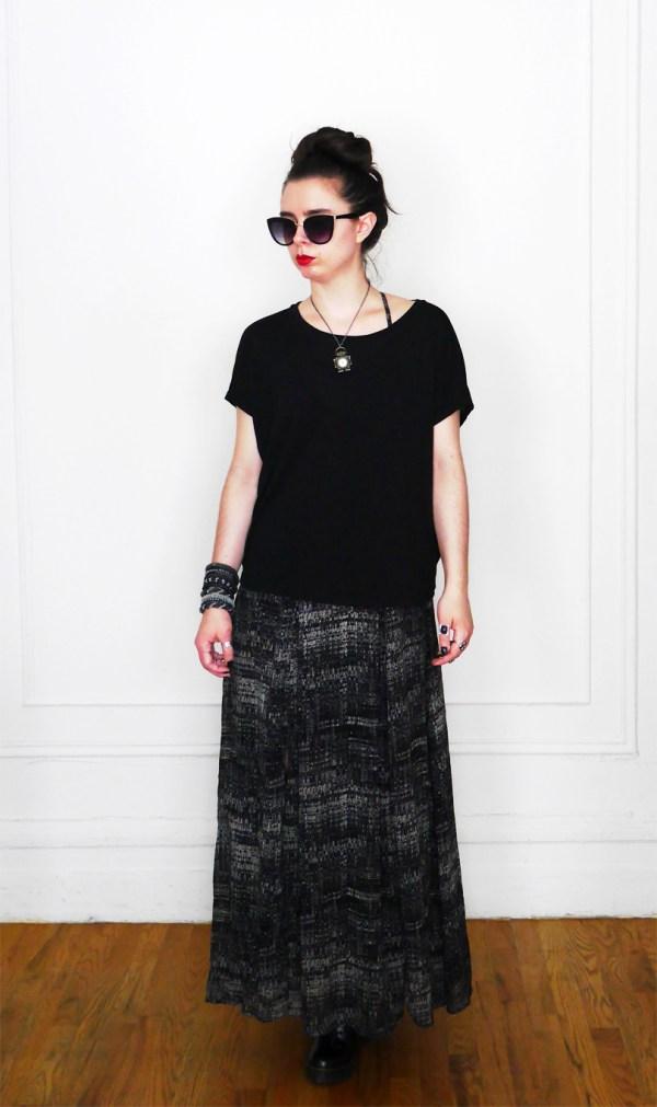 10x10 Wardrobe Challenge Dress+SlouchyTee 2