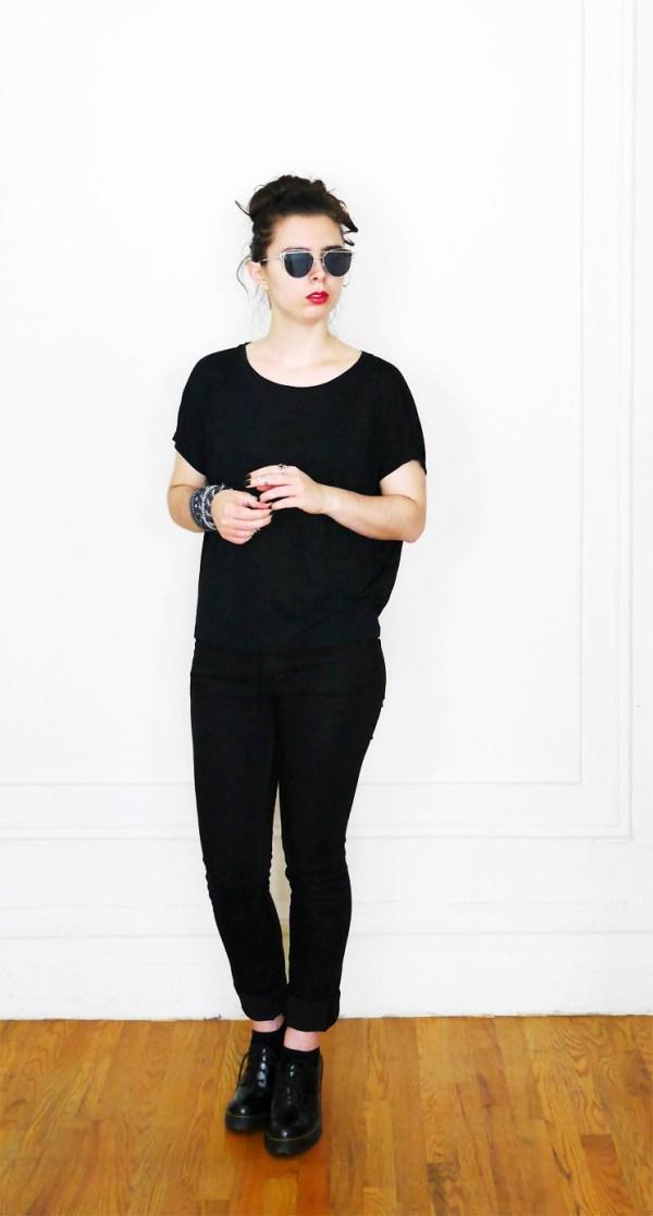 10x10 Wardrobe Challenge SlouchyTee+BlackJeans 4