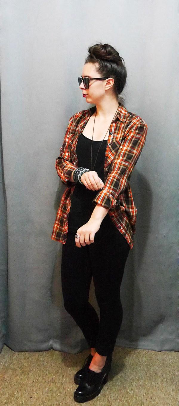 PlaidShirt+Cami+Jeans+Docs Fall10x10WardrobeChallenge 3