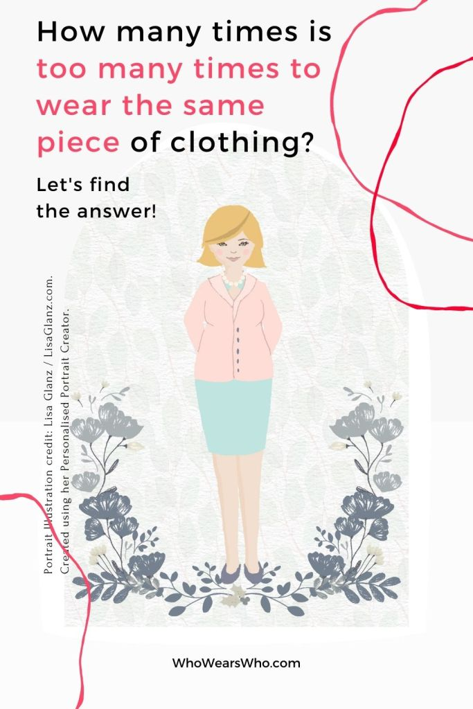 An illustration of a woman asking about caring for much loved clothing blog graphic.