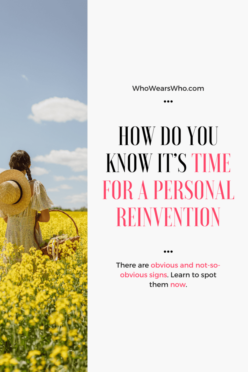 How do you know it's time for a personal reinvention blog graphic