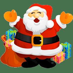 Cartoon drawing of Santa Claus