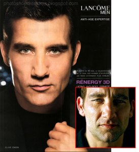Clive Owen on photoshop disasters