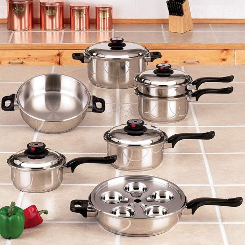 Waterless Cookware Maxam Waterless Cookware