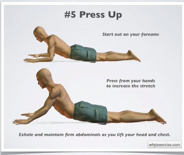Press Ups Can Relieve Lower Back Pain By Stretching The Abdominal Muscles Relieving Tightness That Can Pull The Spine In A Forward Slumped Position