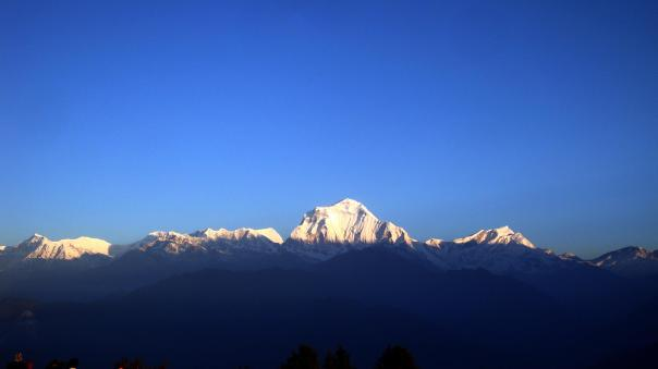 Annapurna Mountains at sunrise from Poonhill