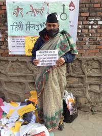 Ujwal at OccupyBaluwatar