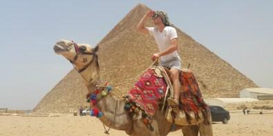 Camel Back Riding at Giza Pyramids by Mohamed Said