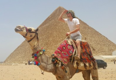 Camel Back Riding at Giza Pyramids by Mohamed Said