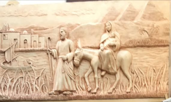 Artwork depicting the Holy Family in Egypt found in the Religious Complex in Old Cairo