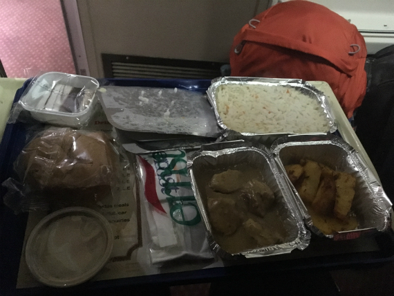 My dinner meal on my Cairo-Aswan ride