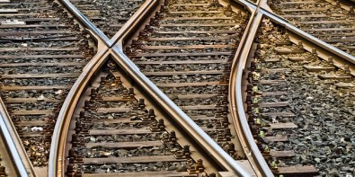 Don't freak out when you see people walking on the railways, apparently it's a fearless common practice, haha (photo via unsplash)