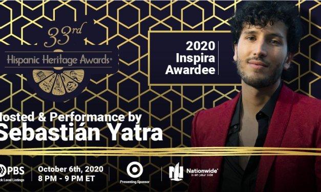 Sebastián Yatra presentará la Gala De los Hispanic Heritage Awards y será galardonado con el Premio Inspira