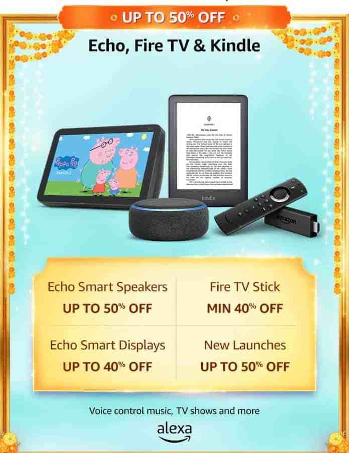 Echo Fire TV Kindle Amazon Great Indian Sale 2020