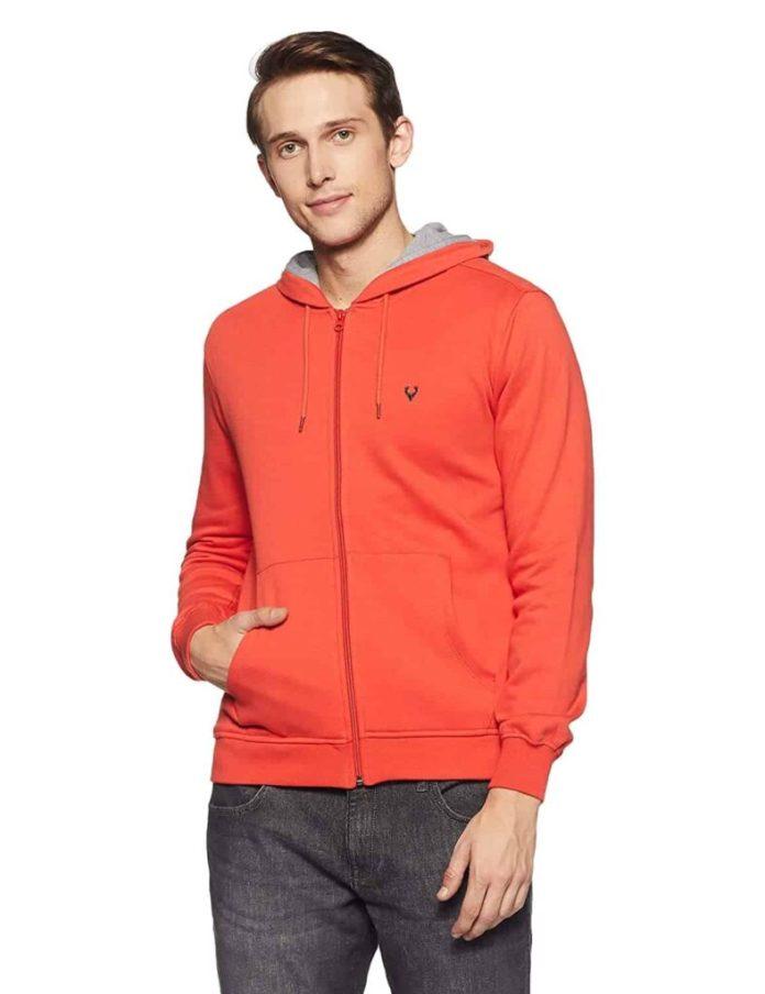 Allen Solly Men's Sweatshirt - Best Jacket Brands in India