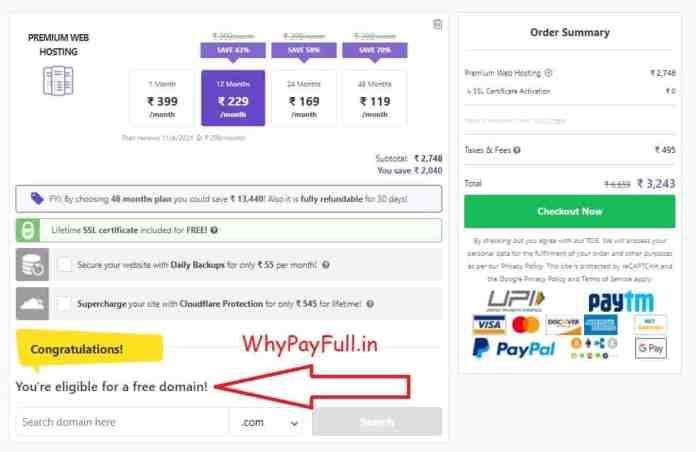 Free Domain Premium Web Hosting Domain and Hosting Sale min